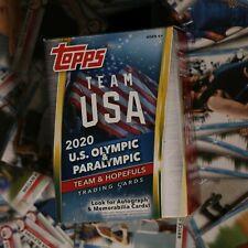 Topps Team USA 2020 U.S. Olympic & Paralympic Team & Hopefuls Pick & Choose