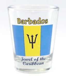 BARBADOS FLAG SHOT GLASS SHOTGLASS