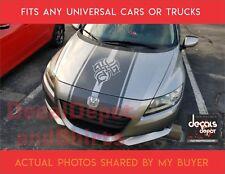 Universal Vinyl Hood Decal Stripes, Honda CR-Z, Civic, Accord, Pilot, CRV Etc