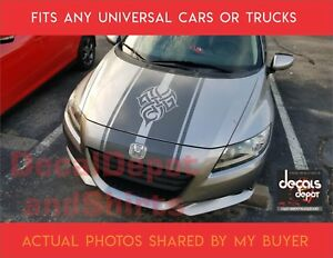 Universal Vinyl Hood Decal Stripes, Honda CR-Z, Civic, Accord, Pilot, CRV CRZ