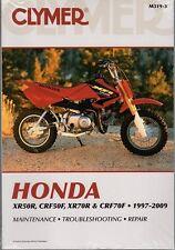 CLYMER SERVICE MANUAL HONDA XR50R 2000-03, XR70R 1997-03, CRF50F & CRF70F 04-09