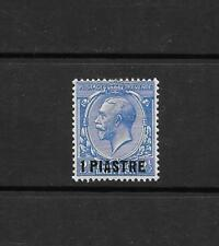 1913 King George V SG36 1pi on 2 1/2d Blue Mint Hinged BRITISH LEVANT
