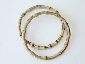 DIY Zubeh/ör f/ür das Basteln und Reparieren von Handtaschen Geldb/örse Bronze dailymall Bambus Taschengriffe Taschenhenkel Taschenb/ügel Tasche Griff Rahmen