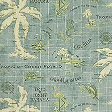 Tommy Bahama Island Song Fabric by the Yard - Surf