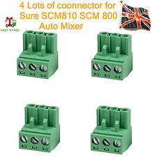 4 lotti Phoenix Connettori 3 pin per SHURE scm810 scm800 AUTO MIXER UK STOCK