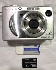 Sony Cybershot DSCW1 5MP Digital Camera with  DSC-W1 2 GB MEMORY CARD
