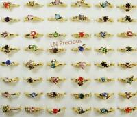 20pcs wholesale rhinestone gold-Plated Rings mix style women alloy free shipping