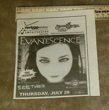 Evanescence newspaper concert ad charlotte nc free Us shipping