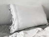 Ruffle Linen pillowcase. 100 % Linen. Lace. Ties closure. All size. All color.