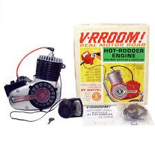 1964 V-RROOM MOTOR in BOX Mattel HOT RODDER ENGINE Bike Horn NICE!