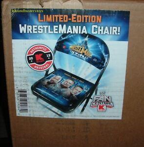 WWE Wrestlemania 29 NY Limited Edition Chair John Cena Brock Lesnar The Rock New