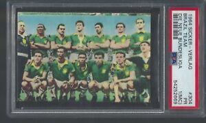1964 Brazil Team with Pele  PSA 1 MC Sticker -Verlag Die Neue Bundesliga # 304