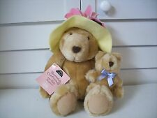 Hallmark plush Bear Bernadette Cuddlesworth and Baby Fuzzmore