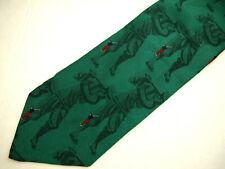 "Ike Behar Mens Necktie Tie Green Golfers Print 57"""
