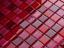 Luxus Glasmosaik Fliesen Matte Weinrot Pink Rot Rot Glas MIX-3 bunt Farben  6mm