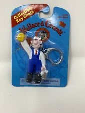 Wallace and Gromit Rare Key Chain Collectible (1989) Wallace Scrubbing