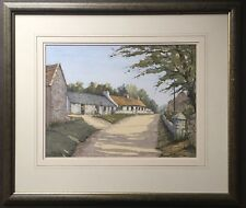 Original Irish Art Watercolour Painting Of Cunningham Cottages By McKillop 1997