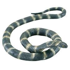 Huge Cobra Rubber Snake #1.4m Long Wild Reptile Halloween Prop Fancy Dress