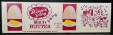 Wayne Dairy Quality Butter One Pound Unused Vintage Carton Richmond, Indiana