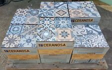 TILES JOBLOT 98:Bright & colourful Spanish vintage non-slip porcelain tiles 30m2