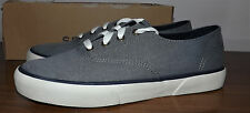 SPERRY TOP SIDER PIER  EDGE WASHED GRAY CANVAS COMFY INSOLE SHOES WOMEN SIZE 7.5