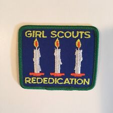 GIRL SCOUTS REDEDICATION PATCH THREE CANDLES