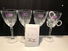 New Set of 4 Marquis by Waterford w/Box *Sparkle* Wine Glasses 156157 READ