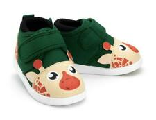 NWT - IKIKI Baby's 'GIRAFFE' Green Multi STRAP-ON SQUEAKY SNEAKER SHOES - 7
