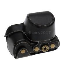 Black Leather Camera Bag Case Cover Pouch for SONY A6000 NEX-6 NEX6 Camera P9I5