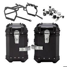 Alu-Koffer + Kofferträger für Honda Africa Twin CRF 1000 L 18-19 XB30-38 schwarz