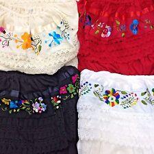 Artisan Boho Gypsy Bohemian Handmade Embroidered Lace Ribbon Dress