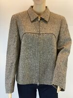 Betty Barclay Wool Silk Blend Casual Long Sleeve Tweed Blazer Jacket Size 12