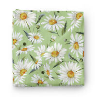 Daisy Baby Muslin Swaddle Blanket 120x120cm 70% Bamboo 30% Cotton