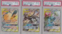 3x Pokemon Card: PSA 10 Gem Mint Pikachu Zekrom Eevee GX SM167 SM168 SM169