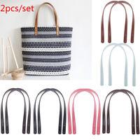 2X/lot 62cm Fashion Leather Bag Strap Handle Shoulder Bag Belt Band for Handbag&