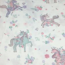 Nicole Miller Unicorn TWIN Sheet Set Floral Pink Mint Green Turquoise Lavender
