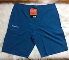 NEW NWT Simms Fly Fishing Surf Shorts Boardshorts - UPF 50+ COBALT SZ 38 Waist