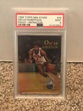 1996 Topps NBA Stars Finest - REFRACTOR #38 - OSCAR ROBERTSON - PSA 9 Mint