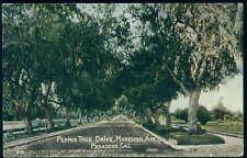 Postcard PASADENA CA Pepper Tree Drive & Marengo Avenue