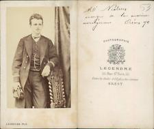 Legendre, Brest Mr Nielsen, officier de la marine Norvégienne CDV, vintage album