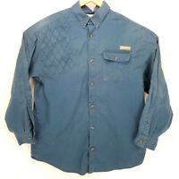 COLUMBIA PHG Blue mens Vented Long Sleeve Hunting Shirt with Size Large