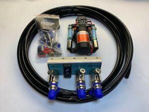 Car & camper fresh water pump  kit - Pump, Hoses & 4in1 Wet Spot - SAVE Flat