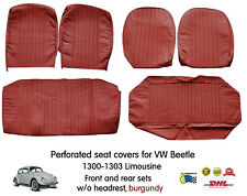 Volkswagen VW Beetle 1300 - 1303 Seat Cover Set 6 pieces front & rear - Burgundy