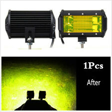 1PCS 5 pulgadas 72W CREE LED Luz de Trabajo Barra Luz Antiniebla inundación offroad Coche 4WD SUV Ámbar