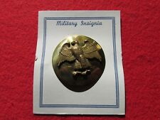 US Army waac Womans Auxillary Army Corp Dress hat Badge SB Brass on Card