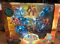 GORMITI THE INVINCIBLE LORDS OF NATURE SERIES 2 10 FIGURES AND CARDS NEW