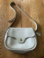 Vintage Coach Station Bag Tan Leather Made In The United States