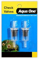 Aqua One Airline Check Valve (2pk) Air Pump Stop Aeration Fish Tank Aquarium