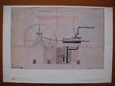 ANSALDO 1980 ( F 4 ) RIPR. DISEGNO TECNICO MACCHINA A VAPORE 20 CAVALLI - 1860