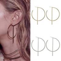 Fashion Women Big Large Round Hoop Dangle Earrings Studs Gold Silver Jewelry NEW